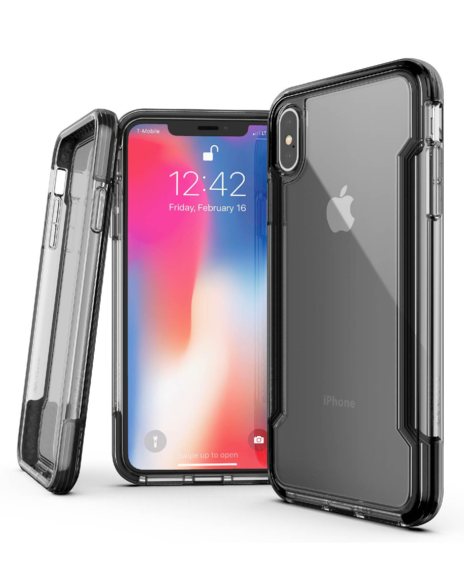 X-Doria Defense Clear Back Case for iPhone XS Max - Black