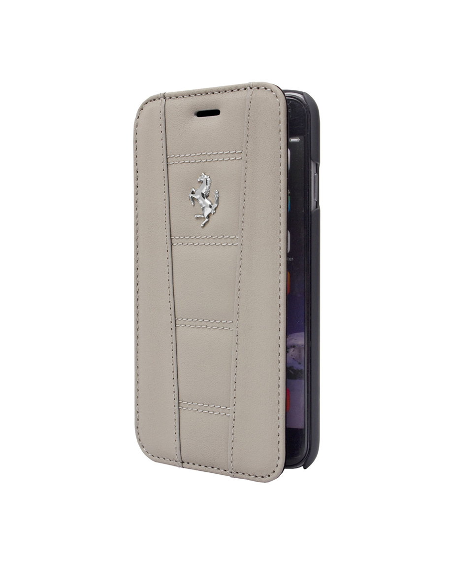 Ferrari 458 Collection Leather Booktype iPhone 6 Gray